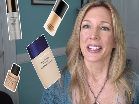 Best & Worst ~ Testing 4 Liquid Foundations for Mature Skin