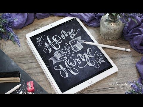 Chalk lettering in Procreate on Ipad Pro Skillshare Class
