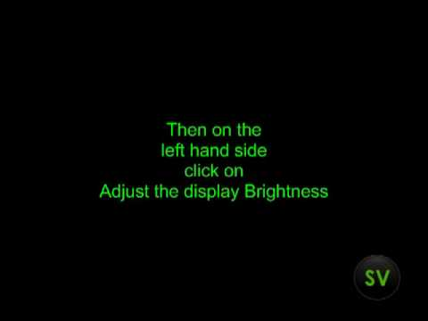 Vista Brightness Changer