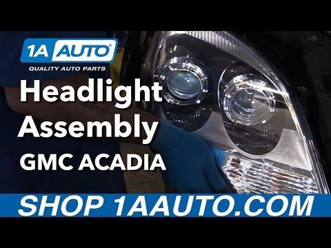 How to Install Replace Headlights 2010-12 GMC Acadia Denali Buy Auto Parts at 1AAuto.com