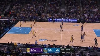 1st Quarter, One Box Video: Golden State Warriors vs. Los Angeles Lakers