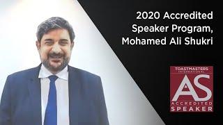 2020 Accredited Speaker Program, Mohamed Ali Shukri