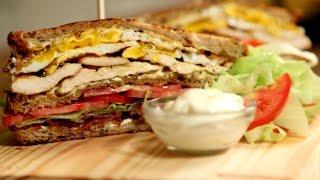 Ultimate Club Sandwich | BLT Sandwich Recipe | The Bombay Chef - Varun Inamdar