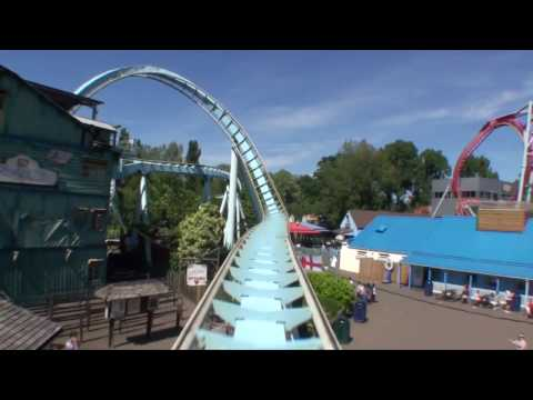 Shock Wave Stand Up Roller Coaster POV - Drayton Manor, UK