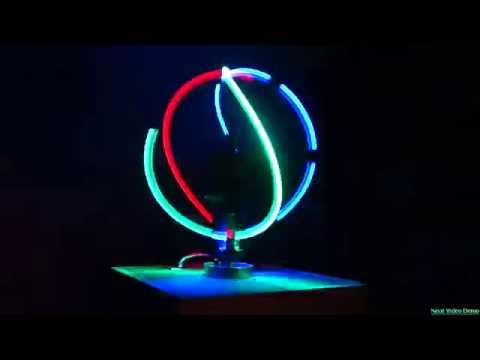 Spinning RGB LED Light Ball
