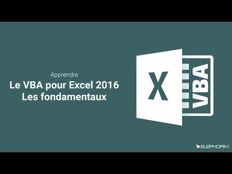 Tuto VBA pour Excel 2016 - Les fondamentaux | Elephorm