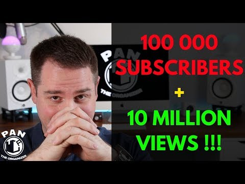 100 000 subscribers!  10 million views!  THANK YOU !!!