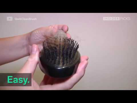 Quick-Clean Hairbrush - Easy Clean, Self-Cleaning Hair Brush