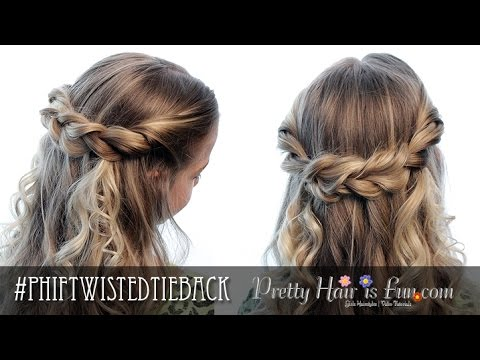 Half Up Hairstyles -Twisted Tieback | Pretty Hair is Fun