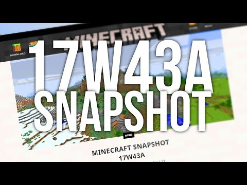 What's New in Minecraft 1.13 (17w43a snapshot)