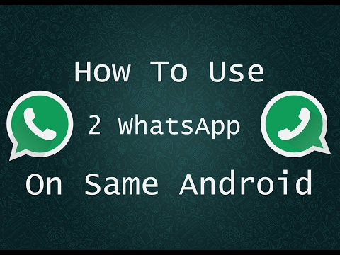 How to Create two whatsapp account in one phone. this very amazing trick watch now.