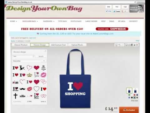 Personalised Bags - Design Your Own Personalised Bags Online!