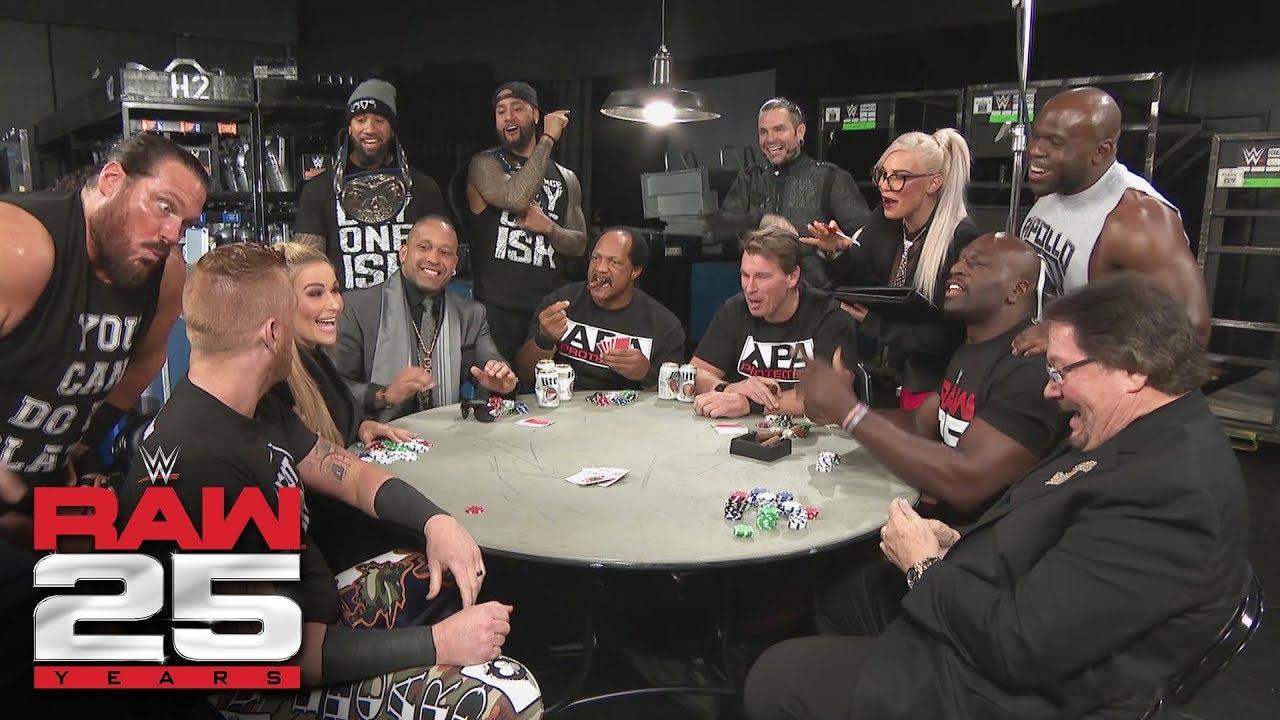 The APA host a poker game: Raw 25, Jan. 22, 2018