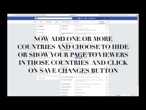 HOW TO ADD OR EDIT COUNTRY RESTRICTIONS ON FACEBOOK PAGE