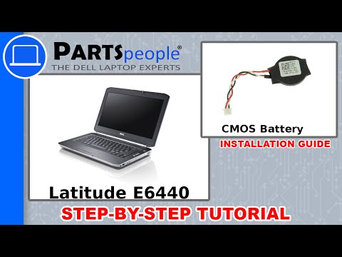 Dell Latitude E6440 CMOS Battery How-To Video Tutorial