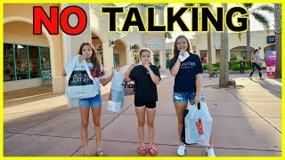 NO TALKING SHOPPING CHALLENGE