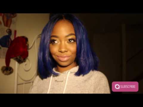 HOW TO: BLUE BLUNT CUT BOB w/clippers
