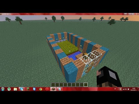 How to make automatic wheat farm in minecraft 1.6.4!!!!