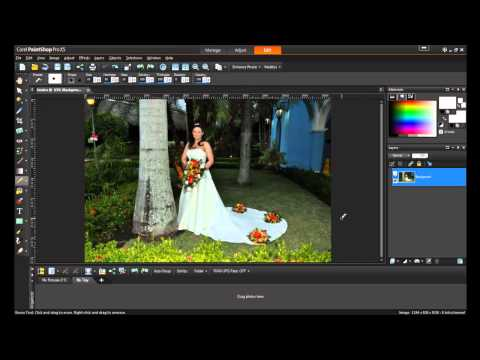 Removing Unwanted Objects in PaintShop Pro X5