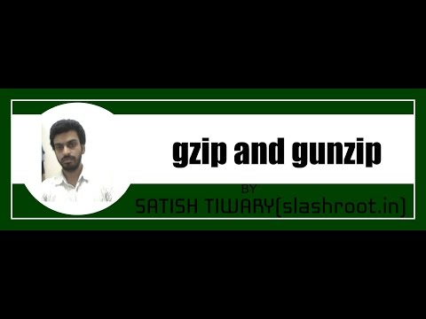 gzip and gunzip command in linux