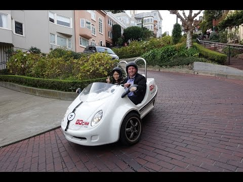 Driving down Lombard Street, San Francisco November 2016