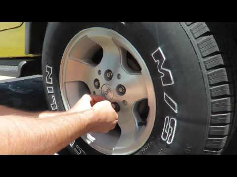 Removing Stuck locking lug nuts from my 2001 Jeep Wrangler