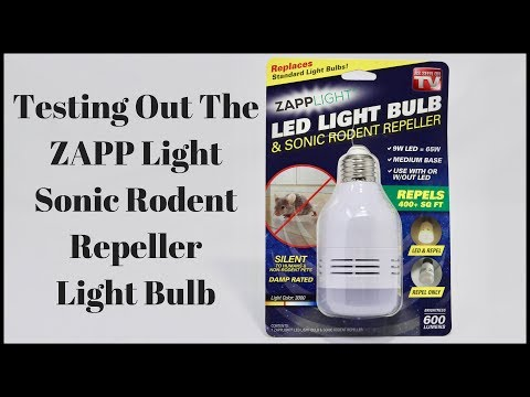 Testing Out The ZAPP Light Sonic Rodent Repeller Light Bulb. Mousetrap Monday