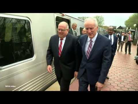 Md. Gov. Hogan takes a trip on the Red Line