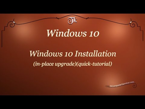 Windows :  How to Install Windows 10 (in-place upgrade) (quick tutorial)
