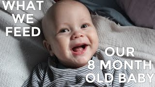 What We Feed Our 8 Month Old Baby | Vegan Family
