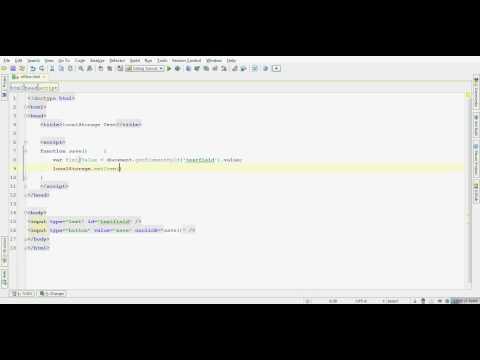 Simple HTML5 localStorage Example