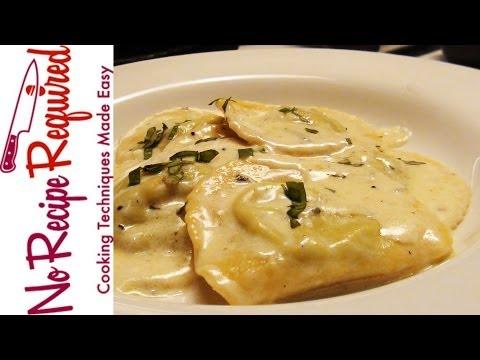 Ravioli with Gorgonzola Sauce - NoRecipeRequired.com