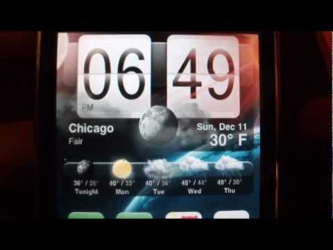 HTC Animated Weather Widget for Iphone 3G/3GS 4/4S Ipod Touch
