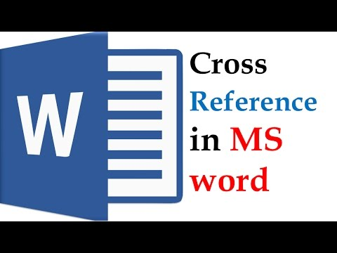 Cross reference In MS word