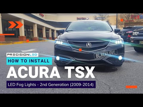 Acura TSX LED Fog Lights How To Install -  2nd Generation 2009 - 2014