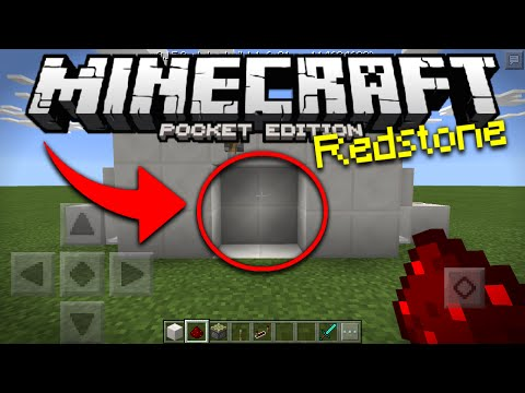 Minecraft PE Piston Door Tutorial - How To Make a Piston Door in MCPE 0.15.0 (Pocket Edition)