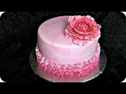 How to make a Big fondant/gumpaste rose flower