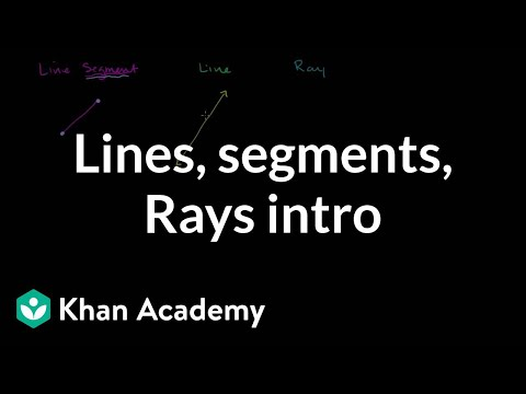 Intro to lines, line segments, and rays | Geometry | Khan Academy