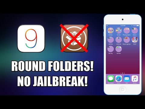 How to Get a Round Folders Effect on iOS 9.3.1/9.3.2! (NO JAILBREAK!)