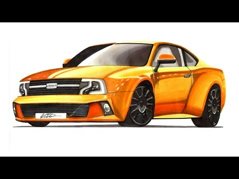 How To Draw Muscle Cars Step By Step Draw Rims