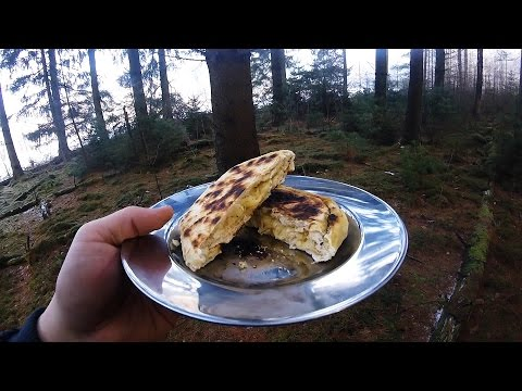 Easy cheese stuffed bannock bread - backpacking food recipe