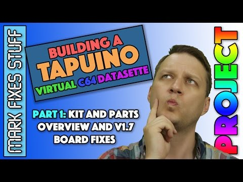 Building a Tapuino Virtual C64 Datasette Pt 1 - What's in the kit and V1.7 mods - Commodore SD Card