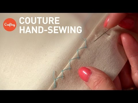 Couture Hand Sewing Stitches (Couture Finishing Techniques) | Tutorial with Alison Smith
