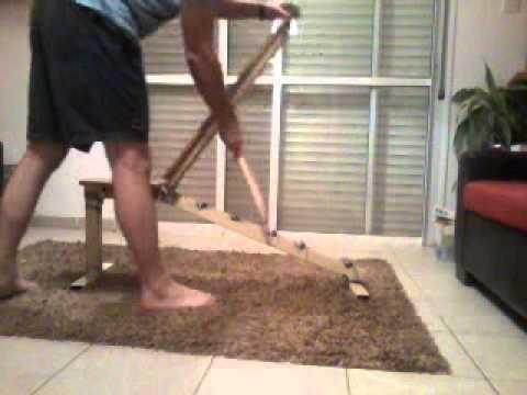 Homemade adjustable workout bench