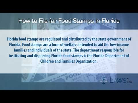 How to File for Food Stamps Florida