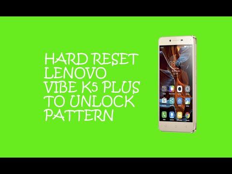 Hard Reset Lenovo Vibe k5 Plus To Remove Password