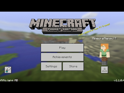 Minecraft PE 1.1 | MCPE 1.1.0.4 UPDATE RELEASED!! + GAMEPLAY!! (Pocket Edition)