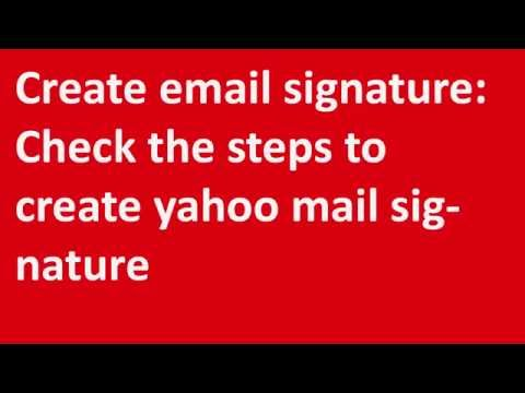 ✱✱✱Create email signature: Check the steps to create yahoo mail signature✱✱✱