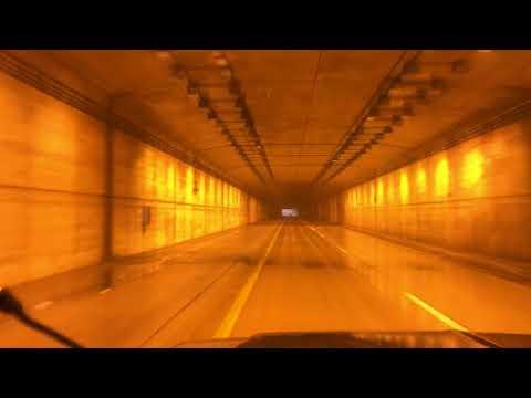 A Foggy Drive through Detroit Metro Airport.