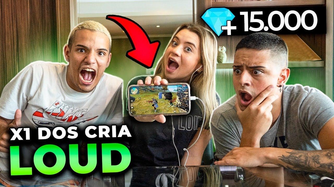 X1 DOS CRIA COM INSCRITOS VALENDO 15.000 DIAMANTES NA LOUD!!